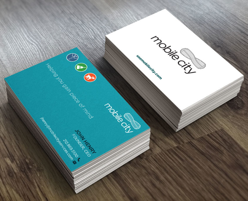 Mobile City Business Cards