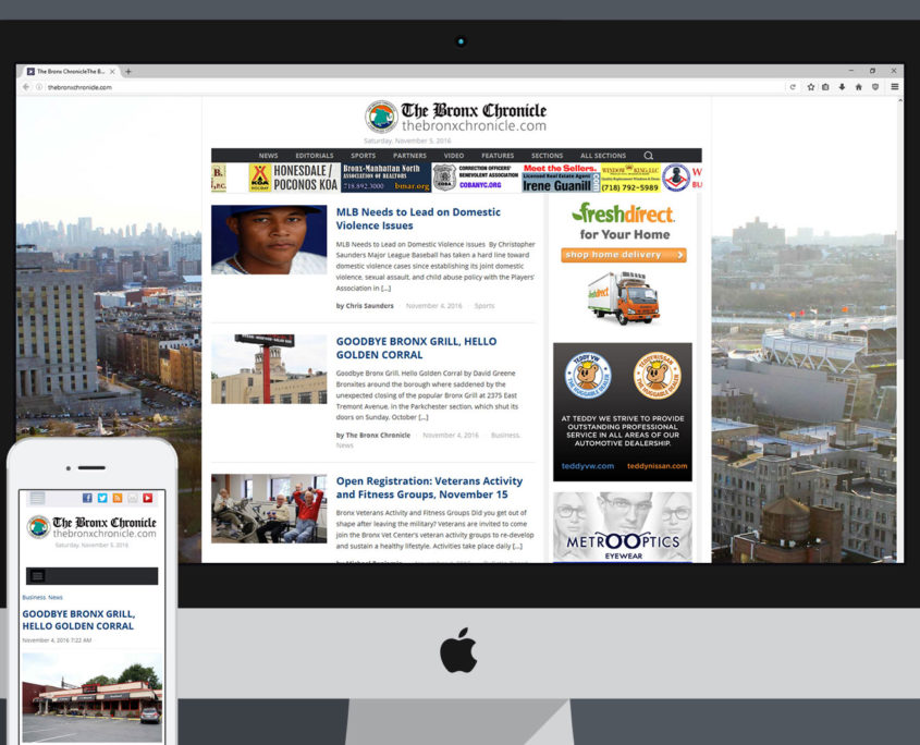 Bronx Chronicle Website