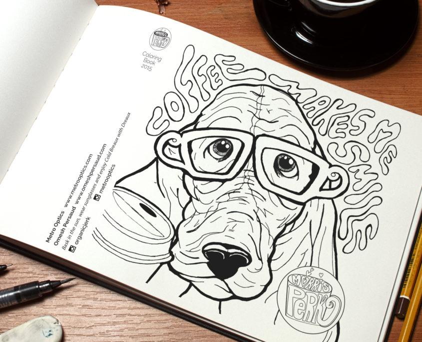Morris Perk Coloring Book Page